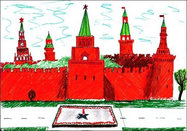 Красная площадь картинки для детей нарисованные, сделать шкатулку открыток